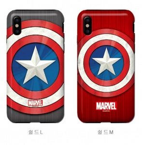 Ốp chống sốc Marvel iPhone X (Captain)